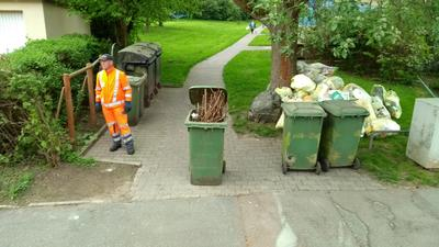 Vorschriftsgemäße Bereitstellung der Abfälle wichtig